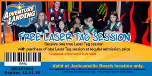 Adventure Landing Coupon Free Laser Tag Session