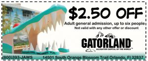 Gatorland Coupon
