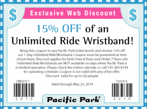 Pacific Park Printable Coupon 2014