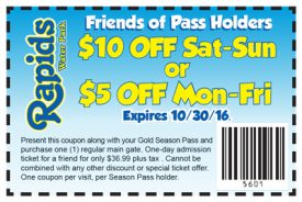 Rapids Waterpark Coupon