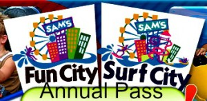 2014 Sam's Fun City Annual Pass