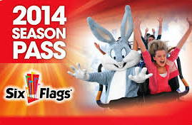 2014 Six Flags Hurricane Harbor Season Pass