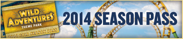 2014 Wild Adventures Season Pass
