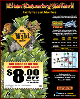 Lion country safari discount coupons