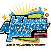 [I-X Indoor Amusement Park Logo]