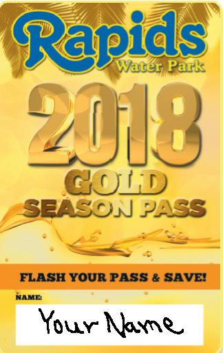 Rapids Water Park Gold Season Pass